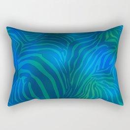 Zebra goes underwater Rectangular Pillow
