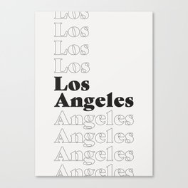Los Angeles Type - Dark Canvas Print