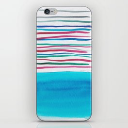 22  |181026 Lines & Color Block | Watercolor Abstract | Modern Watercolor Art iPhone Skin