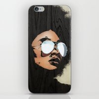 afro iPhone & iPod Skins featuring Venus Afro by Vin Zzep