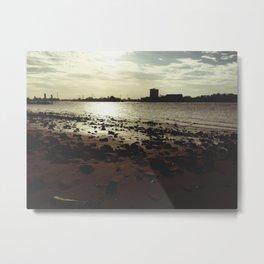 beach harbour daylight Metal Print