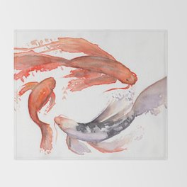 Koi Throw Blanket
