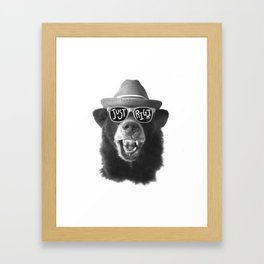 Juuust right Framed Art Print
