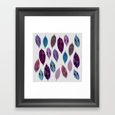 Pink Leaves 2 Framed Art Print