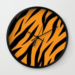 Tiger background #society6 #decor #buyart #artprint Wall Clock
