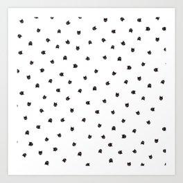 Black Cats Polka Dot Art Print