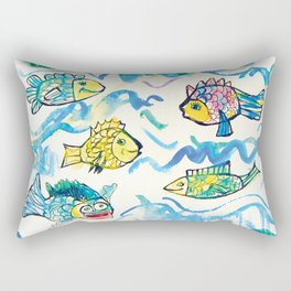Funny fishes Rectangular Pillow
