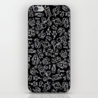 robots iPhone & iPod Skins featuring Robots by Marcelo Coelho Studios