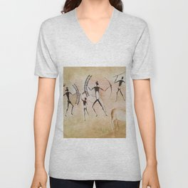 Cave art / Cave painting Unisex V-Neck