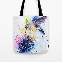 Hummingbird and Dandelion Tote Bag
