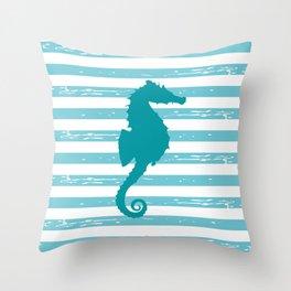 AFE Turquoise Seahorse Throw Pillow
