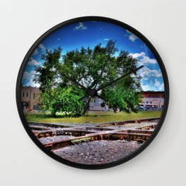 Railroad tracks crossing Wall Clock