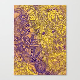 The Underbrush Yellow Canvas Print