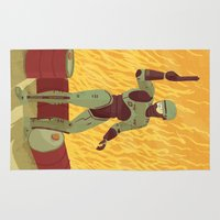 robocop Area & Throw Rugs featuring Robocop by James White