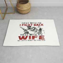 DON'T MESS MY WIFE! Rug