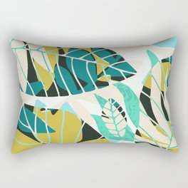 Beach summer tropical plant pattern Rectangular Pillow