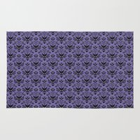 haunted mansion Area & Throw Rugs featuring Haunted Mansion Wallpaper by MiliarderBrown