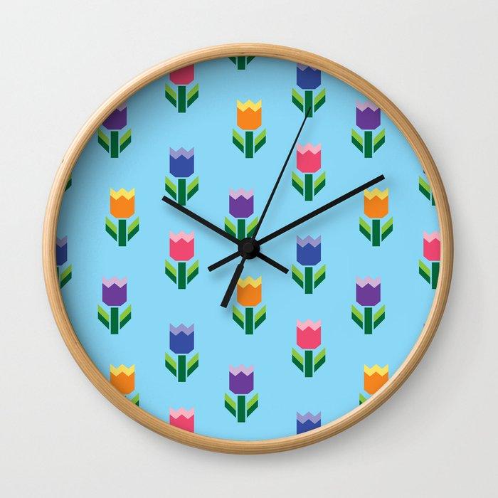 Tulip Print Wall Clock