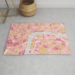 Colorful London map Rug