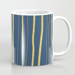 Vertical Living Navy and Gold Coffee Mug