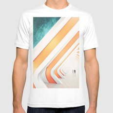 A walk White MEDIUM Mens Fitted Tee