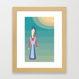Korean Sun Framed Art Print