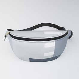Carson Abstract Geometric Print in Blue Fanny Pack