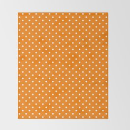 Dots (White/Orange) Throw Blanket