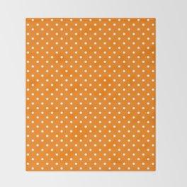 Dots (White/Orange) Throw Blanket