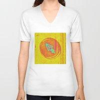 rocket V-neck T-shirts featuring  * Rocket * by Mr & Mrs Quirynen