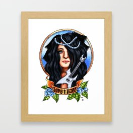 Love & Hate Framed Art Print