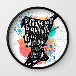 Peter Pan - To Live Wall Clock
