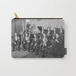 Vintage black and white photo of orchestra Carry-All Pouch