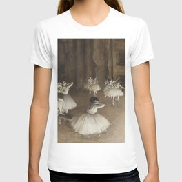 Ballet Rehearsal on Stage by Edgar Degas T-shirt