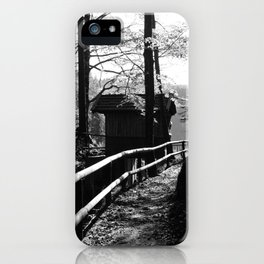 cottage in the wood iPhone Case