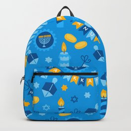 Happy Hanukkah Banner Pattern Backpack