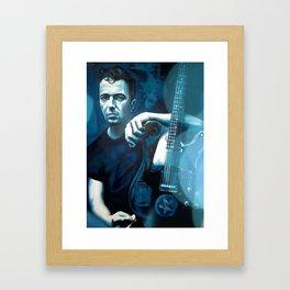 Joe Strummer of The Clash Framed Art Print