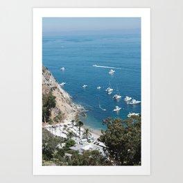 Santa Catalina Island Beach Art Print Art Print
