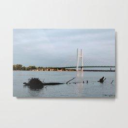 Mississippi River at Burlington, Iowa Metal Print