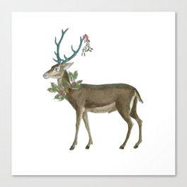 Artsy Christmas reindeer Canvas Print