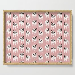 Happy and Fun Single Hooded Pied French Bulldog Serving Tray