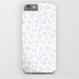 White & Light Gray Leopard Print  iPhone Case