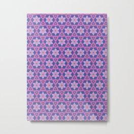 Patterns: Pink Flowers Metal Print