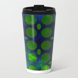 Pattern 3 Green Metal Travel Mug