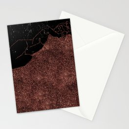Just Pink Glitter Nude in Line Stationery Cards