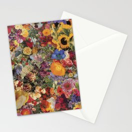 Flower Power Collage Stationery Cards