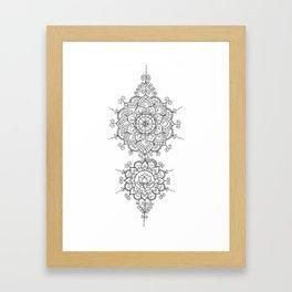 Mendi Mandala Madness  Framed Art Print