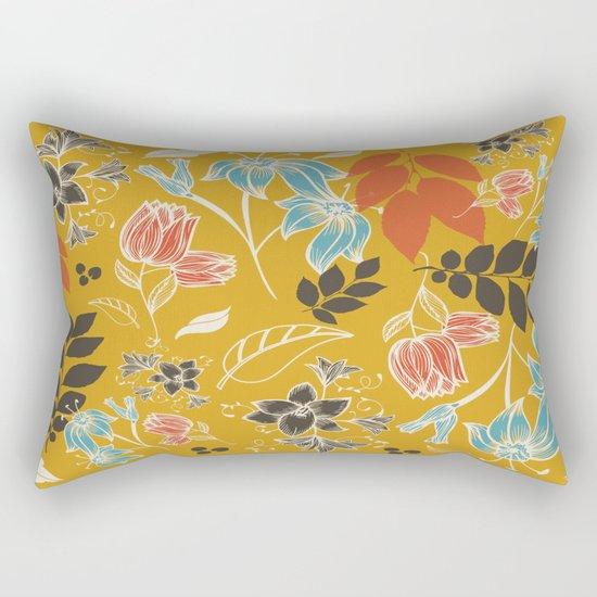 Spring flower mustard Rectangular Pillow