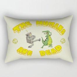 The Humans are Dead Rectangular Pillow