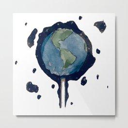 Earth Pop Metal Print